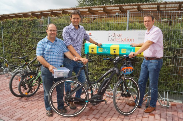 Grossansicht in neuem Fenster: E-Bike Ladestation